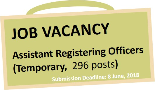 Vacancy Notice: Assistant Registering Officers (Temporary) E ...
