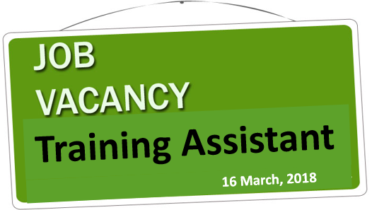 Vacancy - Training Assistant