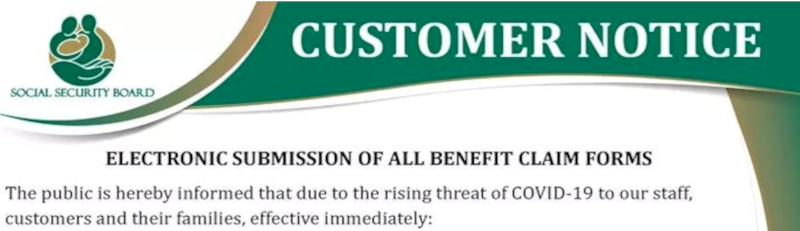 SSB Customer Notice - Electronic Submission of All Benefit C ...