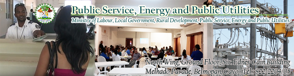 Belize Ministry of Public Service, Energy and Public Utilities - Government of Belize