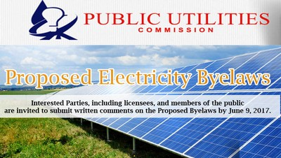 Public Notice: Proposed Electricity Byelaws by PUC Image 1