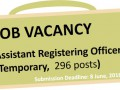Vacancy Notice: Assistant Registering Officers (Temporary) E ... Image 1