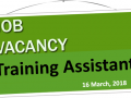 Vacancy - Training Assistant Image 1